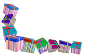 Colorful gifts box — Stock Photo