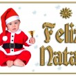 Cute Christmas baby, feliz natal — Photo