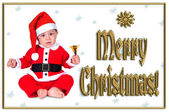 Cute Christmas baby,  merry christmas — Stock Photo
