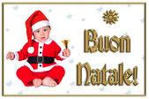 Linda navidad para bebés, buon natale — Foto de Stock