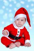 圣诞宝宝坐着 — 图库照片