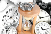 Group of clocks — Stock Photo
