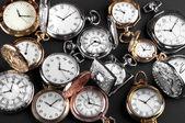 ポケット付きヴィンテージ時計 — ストック写真