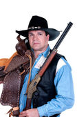 Handsome cowboy — Stock Photo