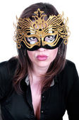 Sexy woman with mask on face — Stock Photo