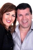 Closeup portrait of a happy mature couple — Stock Photo