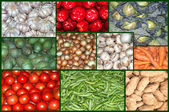 A collage of  vegetables  — Stock Photo