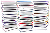 High books stack isolated — Stock Photo