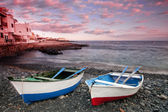 Sunset in La Caleta on the coast of Tenerife — Stock Photo