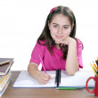 Portrait of a young girl in school — Stock Photo