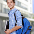 Smiling boy student in high school — Stock Photo #46301459