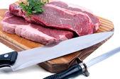 Fresh raw beef  — Stock Photo