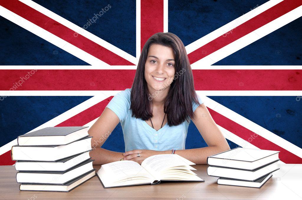 Фото девушек с британским флагом