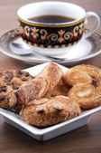 Cup of tea with pastries  — Stock Photo