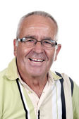 Smiling retired old man — Stock Photo