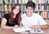 Couple of students — Stock Photo