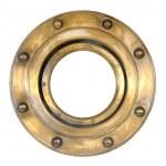 A brass ship's porthole — Stock Photo #46461591