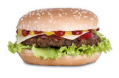 Hamburger with cheese — Stock Photo
