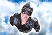Aviator flying — Stock Photo