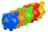 Five piggy bank — Stock Photo