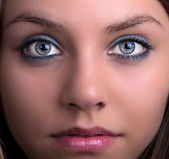 Young blonde with blue eyes — Stock Photo