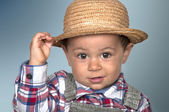 Child with Straw Hat  — Stock Photo