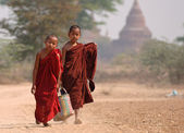 Monks from Bagan — Stock Photo