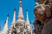 Kakku sanctuary Myanmar — Stock Photo