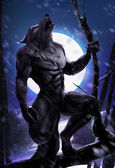 Werewolf howling — Stock Photo