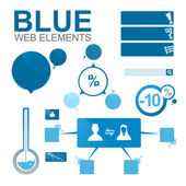 Blue web elements — Stock Photo