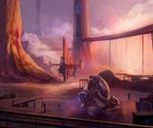 Futuristic docks — Stock Photo