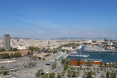 BARCELONA, SPAIN - AUGUST 17:Barcelona from the top on August 17, 2013. Barcelona is a capitol of Catalonia region and one of the most popular touristic cities in Spain — Stock Photo