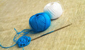 Two  balls of yarn — Stock Photo