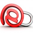 Red concept email symbol — Stock Photo