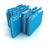 Blue office paper file folders — Stock Photo