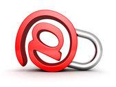 Röd konceptet e-symbol — Stockfoto