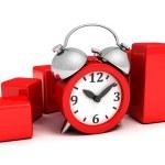 Business finance chart alarm clock — Stock Photo #46270181
