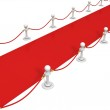 VIP red carpet with rope barrier — Stock Photo #46326811