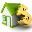 House with   dollar symbol — Stock Photo #46327021