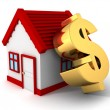 House with   dollar symbol — Stock Photo #46327029