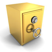 Golden safe bank vault — Stock Photo
