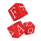 Red FAQ toy cubes — Stock Photo