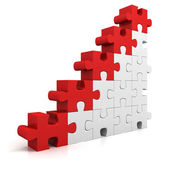 Puzzle  financial   graph — Stock Photo