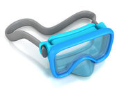 Blue underwater diving mask — Stock Photo