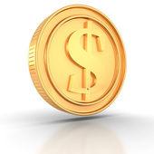 Golden Dollar-Münze — Stockfoto