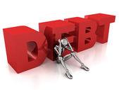 Debt concept — Stock Photo