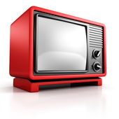 Red retro TV — Stock Photo