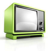 Green retro vintage TV Set — Stock Photo