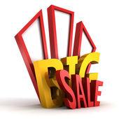 Big sale 3d text — Stock Photo