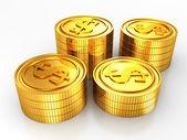 Gold usa dollar coins — Stock Photo
